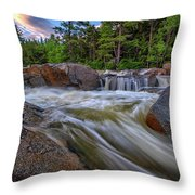 Lower Falls Of The Swift River Throw Pillow