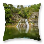 Lower Falls Reflection Of Enfield Glen Throw Pillow