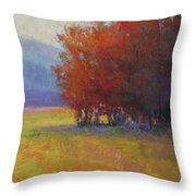 Lower Farm Field Throw Pillow