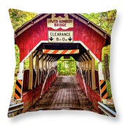 Lower Humbert Covered Bridge 5 Throw Pillow