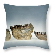 Lower Jawbones Throw Pillow