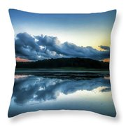Lower Lake Sunset Throw Pillow
