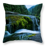 Lower Lewis Falls 1 Throw Pillow