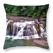 Lower Lewis Falls Throw Pillow