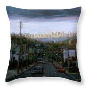Lower Manhattan 2002 Throw Pillow