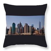 Lower Manhattan Nyc #2 Throw Pillow