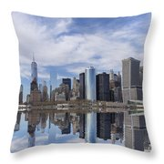 Lower Manhattan Nyc Throw Pillow