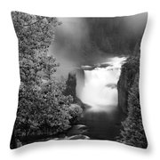 Lower Mesa Falls Throw Pillow