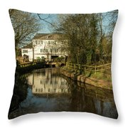 Lower Mill Of Cullompton  Throw Pillow