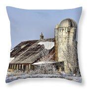 Lower Newton Rd. Barn Throw Pillow