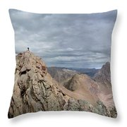 Lower North Eolus From The Catwalk - Chicago Basin - Weminuche Wilderness - Colorado Throw Pillow