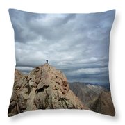 Lower North Eolus From The Catwalk Detail - Chicago Basin - Weminuche Wilderness - Colorado Throw Pillow