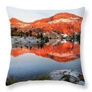 Lower Ottoway Lake Sunset - Yosemite Throw Pillow
