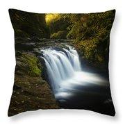 Lower Punchbowl Falls 1 Throw Pillow