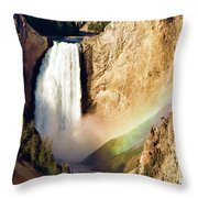 Lower Rainbow Of Colors Throw Pillow