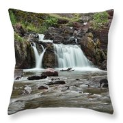 Lower Red Rocks Falls Throw Pillow by Jemmy Archer