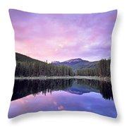 Lower Seymor Lake Throw Pillow