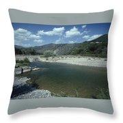 Lower Sisquoc River - San Rafael Wilderness Throw Pillow