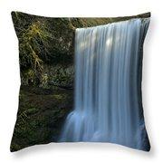 Lower South Falls Closeup Throw Pillow