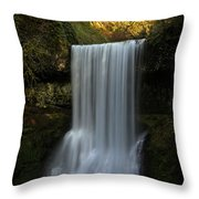 Lower South Falls Portrait Throw Pillow