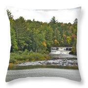 Lower Tahquamenon Falls 4 Throw Pillow