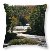Lower Tahquamenon Falls  4349 Throw Pillow