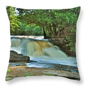 Lower Tahquamenon Falls Throw Pillow