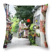 Lower Town Throw Pillow