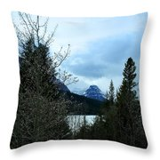 Lower Two Med Lake Through The Trees Throw Pillow