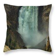 Lower Waterfalls Throw Pillow