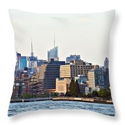 Lower West Side On The Waterfront Throw Pillow