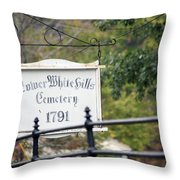 Lower White Hills Cemetery Throw Pillow