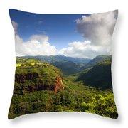 Lower Wiamea View Throw Pillow