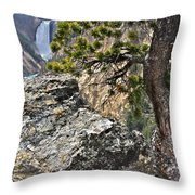 Lower Yellowstone Falls Throw Pillow