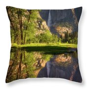 Lower Yosemite Morning Throw Pillow