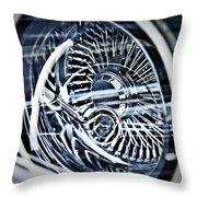 Lowrider Wheel Illusions 1 Throw Pillow