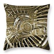 Lowrider Wheel Illusions 2 Throw Pillow