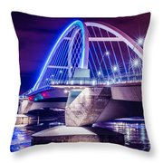 Lowry Bridge @ Night Throw Pillow