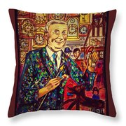 Lowry's Painting Suit Vintage Throw Pillow