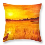 Loxahatchee Sunrise Throw Pillow
