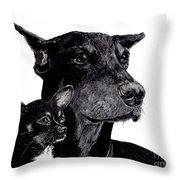 Loyal Companions Throw Pillow