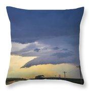 Lp Nebraska Storm Cells 005 Throw Pillow