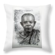 Lp.koon Wat Banrai Throw Pillow
