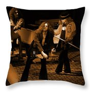 Ls #42 Crop 2 In Amber Throw Pillow