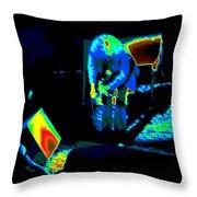 Ls #43 Cosmically Enhanced Throw Pillow