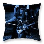 Ls #45 Crop 3 Enhanced In Blue Throw Pillow