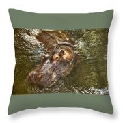 Lu The Homossasa Hippo I I Throw Pillow