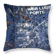 Lube Port Throw Pillow