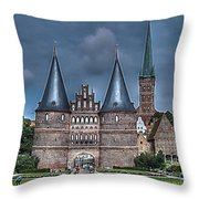 Lubek Germany Throw Pillow