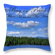 Luby Bay On Priest Lake Throw Pillow